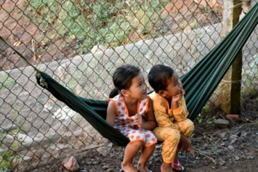 2 children in hammock