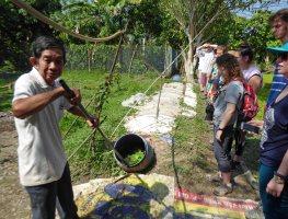 Mr Thanh loading biogas digester 272
